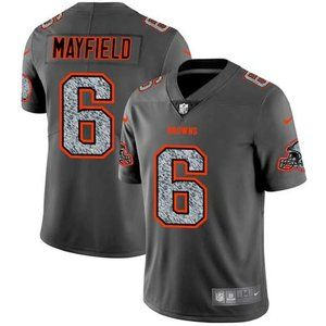 Browns Baker Mayfield Gray Fashion Jersey